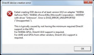 """Error is DXGI_ERROR_UNSUPPORTED (""""Unsupported."""")"""
