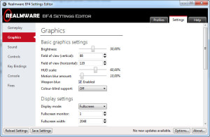BF4 Settings Editor